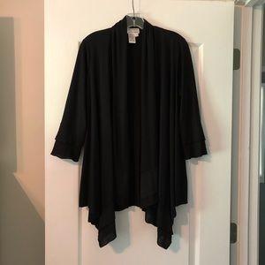 Black open cardigan/wrap. Size small.
